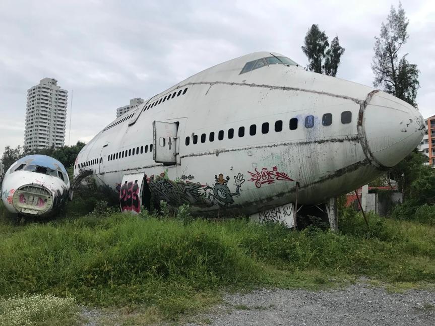 Abandoned Airplane Graveyard inBangkok